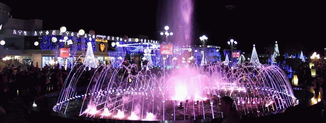 Поющие фонтаны Египет