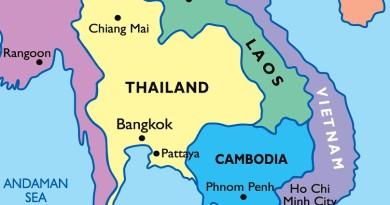 Таиланд на карте