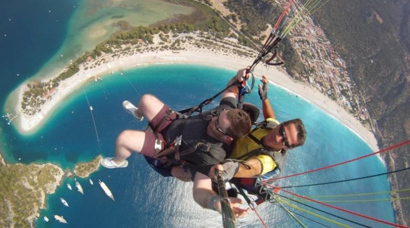 полет на дельтаплане в Турции