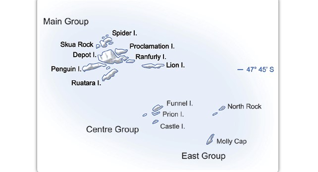 Карта островов Баунти