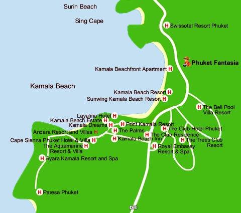 Камала бич карта
