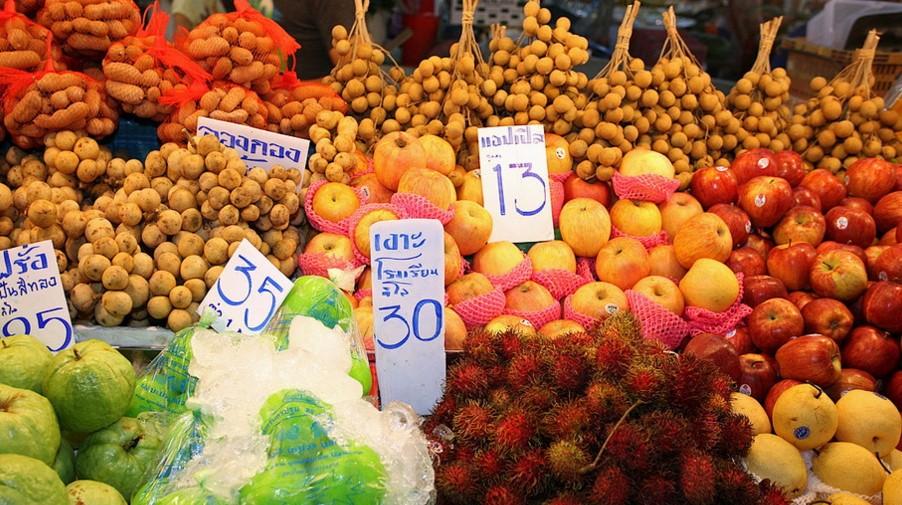 Цены в Паттайе на 2016 год - Фрукты