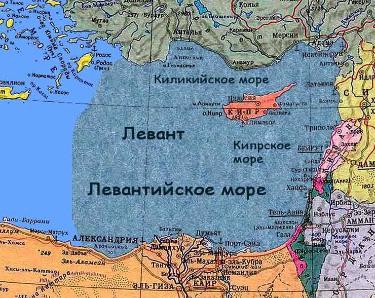 Левантинское море на Кипре