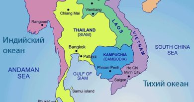 На каком материке находится Таиланд