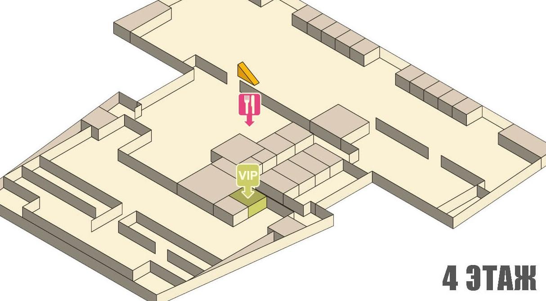 Схема аэропорта Краби - четвертый этаж