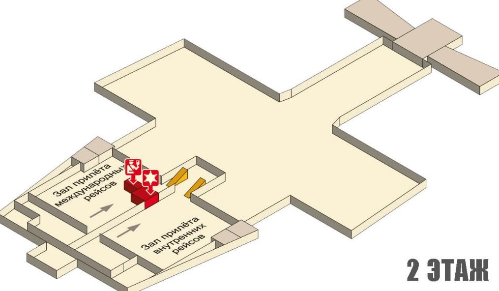 Схема аэропорта Краби - второй этаж