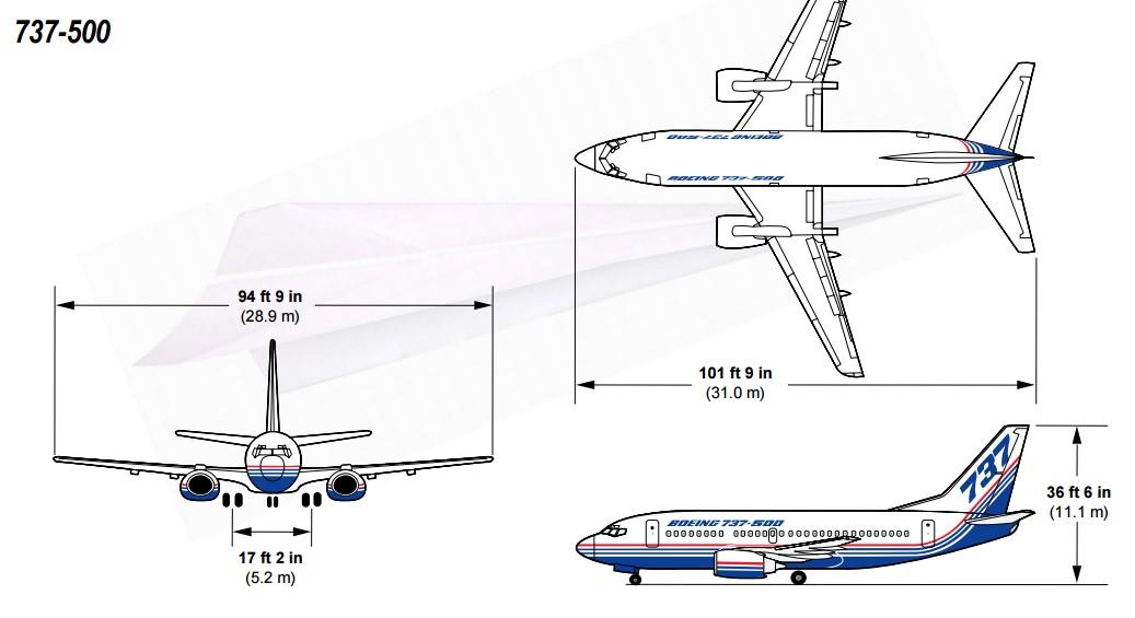 Боинг 737 500 - схема