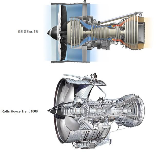 Боинг 787 800 - двигателя