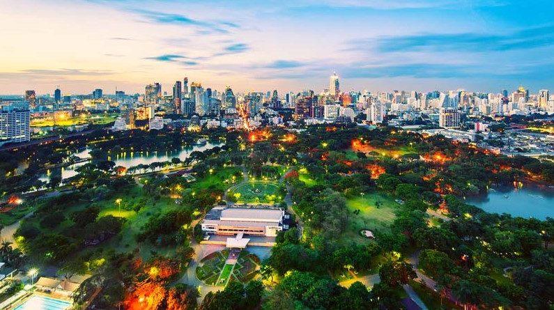 Парк Люмпини в Бангкоке, Таиланд