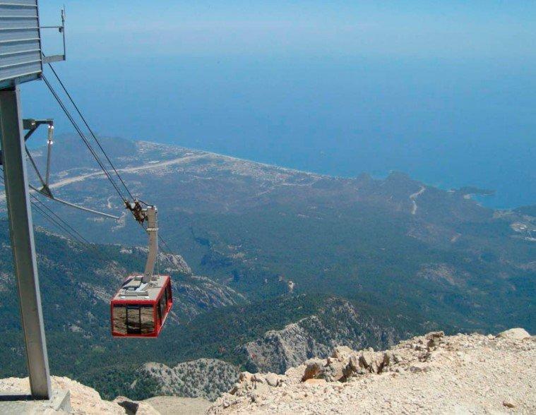 Канатная дорога на вершину горы Тахталы