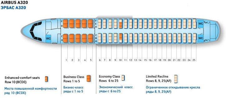 Аirbus a320 - схема салона