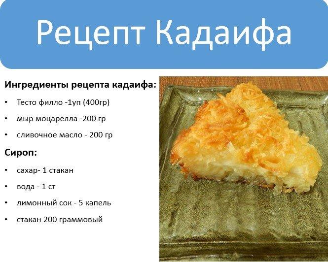 Рецепт Кадаифа