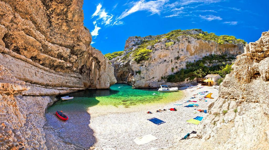 Пляж Стинива, Хорватия