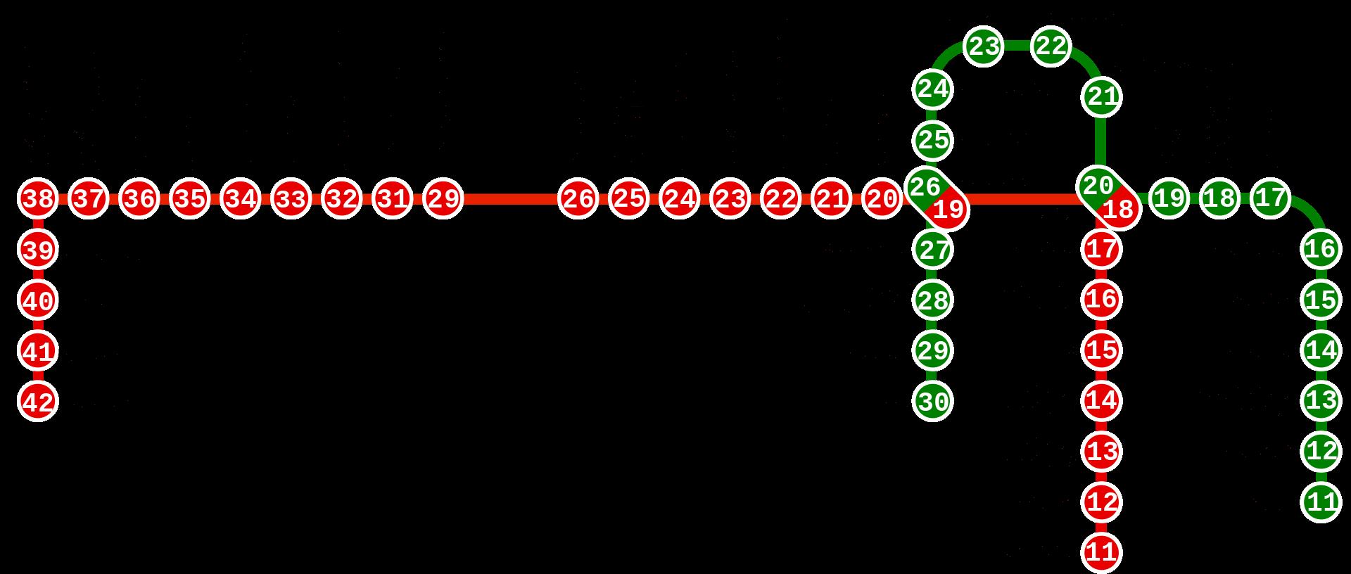 Метро Дубая (схема)
