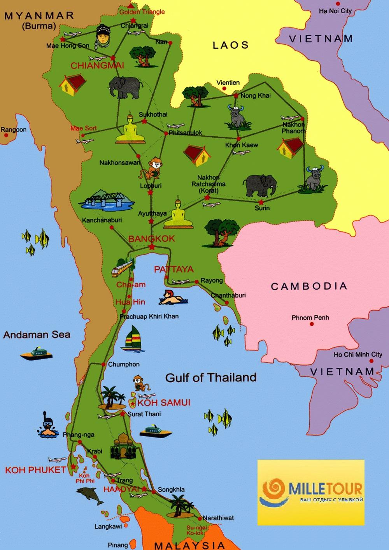 detailed map of korat thailand - HD1000×1413