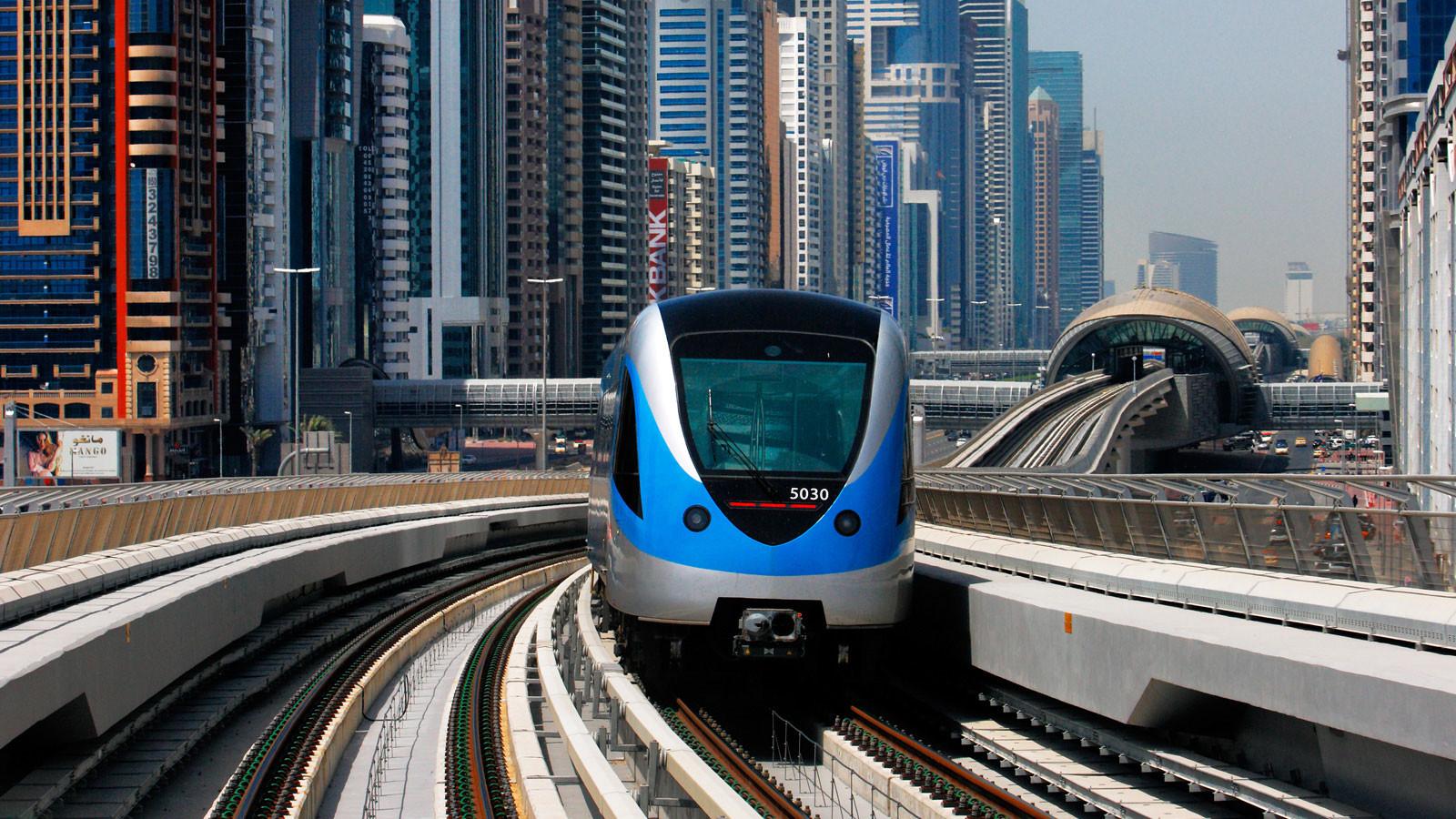 Схема метро Дубая фото